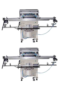Long rod curved screen printing machine TDS-150TG